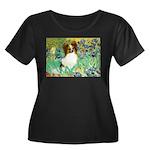 Irises / Papillon Women's Plus Size Scoop Neck Dar