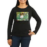 Irises / Papillon Women's Long Sleeve Dark T-Shirt