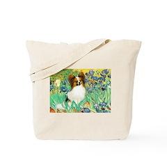 Irises / Papillon Tote Bag