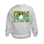 Irises / Papillon Kids Sweatshirt