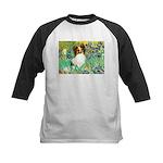 Irises / Papillon Kids Baseball Jersey