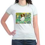 Irises / Papillon Jr. Ringer T-Shirt