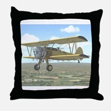 Cute Agriculture aircraft Throw Pillow