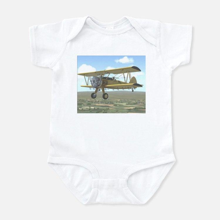 Cute Crop duster pilot Infant Bodysuit