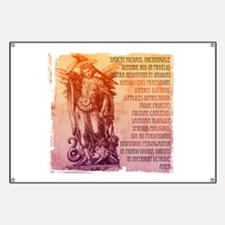 St. Michael Prayer in Latin Banner