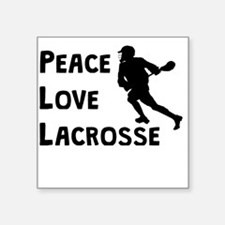 Peace Love Lacrosse Sticker