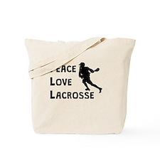 Peace Love Lacrosse Tote Bag
