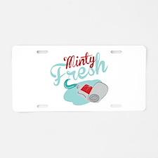 Minty Fresh Aluminum License Plate
