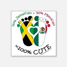 Jamaican Mexican Baby Sticker