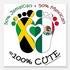 "Jamaican Mexican Baby Square Car Magnet 3"" x 3"""