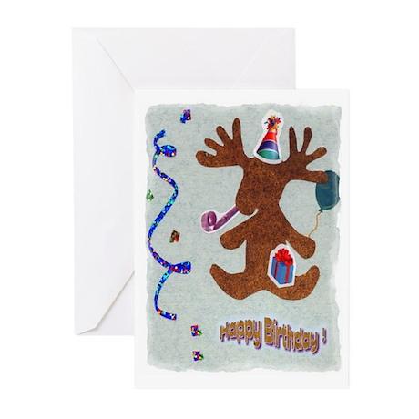 Birthday moose Greeting Cards (Pk of 20)