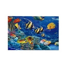 Cute Tropical fish Rectangle Magnet