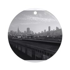 San Francisco Skyline Ornament (Round)