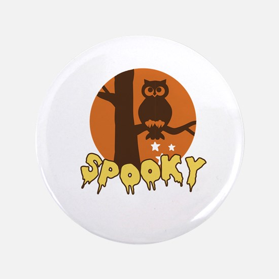 """Spooky Owl 3.5"""" Button"""