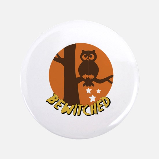 """Bewitched Owl 3.5"""" Button"""