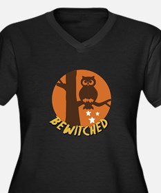 Bewitched Owl Plus Size T-Shirt