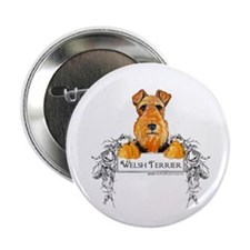 "Welsh Terrier Banner 2.25"" Button (10 pack)"