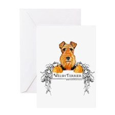 Welsh Terrier Banner Greeting Card