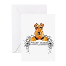 Welsh Terrier Banner Greeting Cards (Pk of 10)