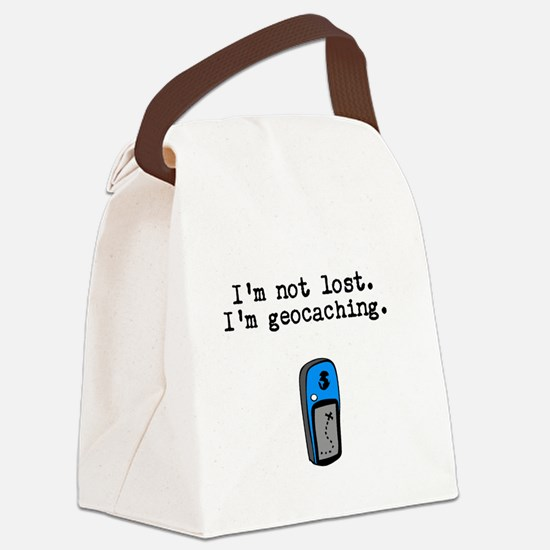 Geocaching, Not Lost Canvas Lunch Bag