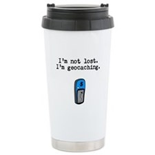 Geocaching, Not Lost Travel Mug