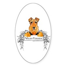 Welsh Terrier Banner Oval Decal