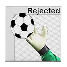 Rejected Soccer Ball Tile Coaster