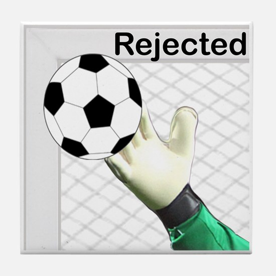Rejected Soccer Ball Tile Coaster