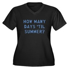 Summer Women's Plus Size V-Neck Dark T-Shirt