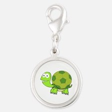 Turtle with Soccer Ball Shell Charms
