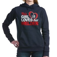 Girl Loves Her Welder Women's Hooded Sweatshirt