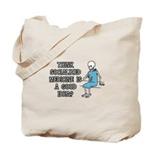 Socialized Medicine Skeleton Tote Bag