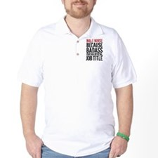 Male Nurse Badass Job Title T-Shirt