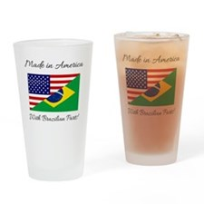 Unique Brazil flag Drinking Glass