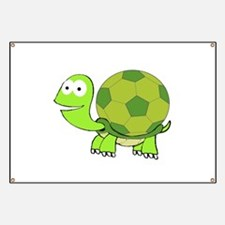 Turtle with Soccer Ball Shell Banner