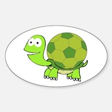 Turtle with Soccer Ball Shell Decal