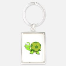 Turtle with Soccer Ball Shell Keychains
