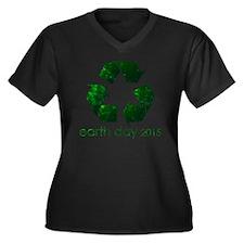 Earth Day 20 Women's Plus Size V-Neck Dark T-Shirt
