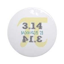 Pi Backwards is Pie Round Ornament