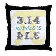 Pi Backwards is Pie Throw Pillow
