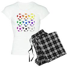 Rainbow of Soccer Balls Pajamas