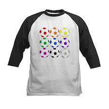 Rainbow of Soccer Balls Baseball Jersey