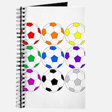 Rainbow of Soccer Balls Journal
