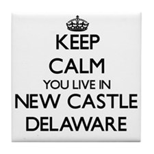 Keep calm you live in New Castle Dela Tile Coaster