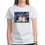 Starry Night & Papillon Women's T-Shirt