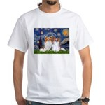 Starry Night & Papillon White T-Shirt
