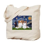 Starry Night & Papillon Tote Bag