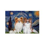 Starry Night & Papillon Rectangle Magnet