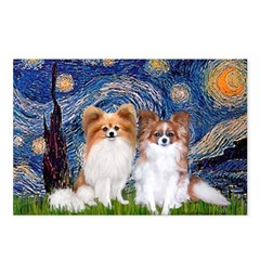 Starry Night & Papillon Postcards (Package of 8)
