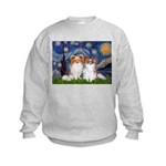Starry Night & Papillon Kids Sweatshirt